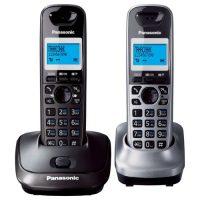 Радиотелефон Panasonic KX-TG2512 RU2 темно-серый металлик/серый металлик