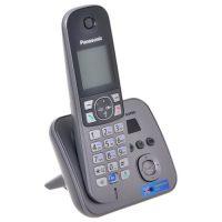 Радиотелефон Panasonic KX-TG6821 RUМ серый металлик