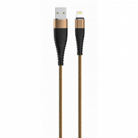 Кабель USB to Lightning OLMIO капучино 1.2m
