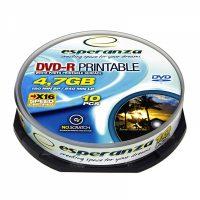 Диск DVD-R Esperanza 4.7Gb 10шт. Printable