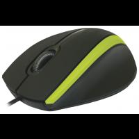 Мышь Defender MM-340 Black/Green USB