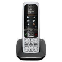 Радиотелефон Gigaset C430 чёрный/серебристый